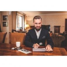 Schreibtisch Set «exklusiv», Brieföffner, Lupe, Rollerball-Schreiber