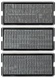 stieber® Serifen Schrift Ersatztypen für stieber® 2811, 2812, 811, 812, 2815, 2816, 823, 824