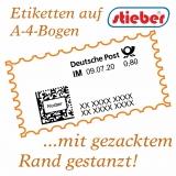 stieber® Gezackte Etiketten für Internetmarke