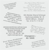 Ersatztextplatten für Stempel, 5 Größen