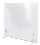 70 × 70 cm Spuckschutz stehend, inkl. Halter Thekenaufsatz Acryl extra groß extra stark 4 mm