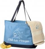 Club Las Piranjas® Strandtasche 59×12,5×38 cm, blau