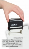 stieber® Stempelautomaten 5 Größen, Griff und Kissen schwarz