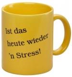 Club Las Piranjas® Keramiktasse Stress, gelb