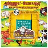 Mina Lavina Stempelset mit Hörspiel-CD Folge 1 Bauernhof