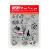 stieber® Clear Stamp Set Frohe Ostern - Happy Easter