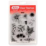 stieber® Clear Stamp Set Blumen - Flowers