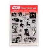 stieber® Clear Stamp Set Katzen - Cats