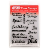stieber® Clear Stamp Set TEXTE 1 - German Texts 1