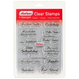 stieber® Clear Stamp Set TEXTE 2 - German Texts 2