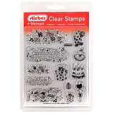 stieber® Clear Stamp Set Party