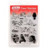 stieber® Clear Stamp Set Tiere 1 - Animals 1