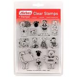 stieber® Clear Stamp Set Teddies 1 - Teddy 1