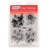 stieber® Clear Stamp Set XXL Blumen - XXL Flowers