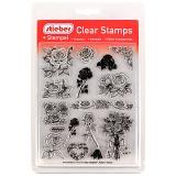 stieber® Clear Stamp Set Rosen - Roses